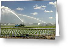 Truck Mounted Irrigation Greeting Card