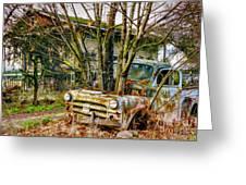 Truck N Tree Greeting Card