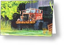 Truck Rusted Greeting Card