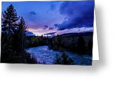 Truckee River Sunset Greeting Card