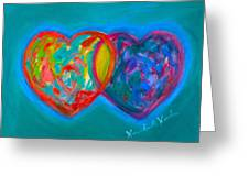 True Blue Hearts Greeting Card