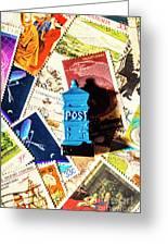 True Blue Postbox Greeting Card