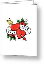 True Love Tattoo Greeting Card