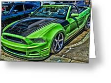 Truefiber Mustang Greeting Card