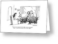 Truffle Hogs Greeting Card