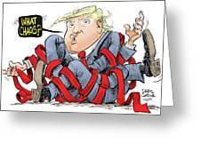 Trump Chaos Greeting Card