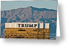 Trump Tower Nevada Greeting Card by Andy Smy