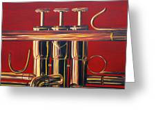 Trumpet In Red Greeting Card
