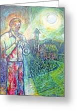 Trumpet Man Greeting Card