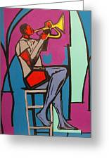 Trumpet Player II Greeting Card