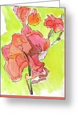 Trumpet Vine Blossom Greeting Card