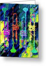 Trumpets Abstract Greeting Card