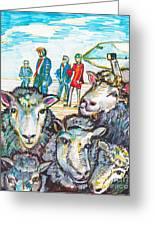Trump,sheep And Dolly Clone Greeting Card