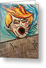 Trumpty Dumpty Falling Off His Imaginary Wall Greeting Card