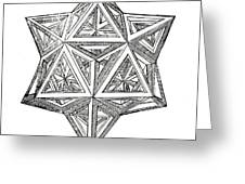 Truncated And Elevated Hexahedron With Open Faces Greeting Card