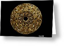 Truncated Hyper Dodecahedron Greeting Card