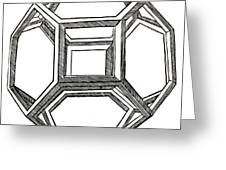 Truncated Octahedron With Open Faces Greeting Card