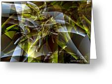 Trunks In Green And Gray Greeting Card