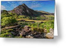 Tryfan Mountain Valley Greeting Card