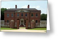 Tryon Palace Front With Gaurd Posts Greeting Card