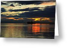 Tsawassen Sunset Greeting Card