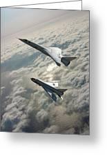 Tsr.2 Advanced Bomber And Lightning Interceptor Greeting Card