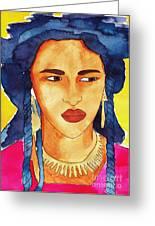 Tuareg Woman Greeting Card
