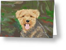 Tucker The Welsh Terror Greeting Card