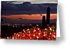 Tucson City Lights Greeting Card