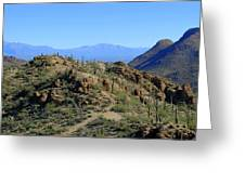 Tucson Mountain Ranges Greeting Card