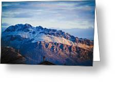 Tucson Mountains Snow Greeting Card