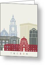 Tucson Skyline Poster Greeting Card