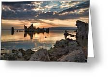 Tufa Sunrise Greeting Card