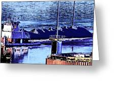 Tug Reflections Greeting Card
