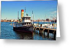 Tugboat Baltimore At The Museum Of Industry Greeting Card