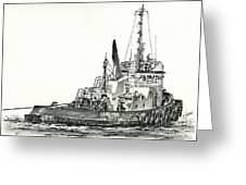 Tugboat David Foss Greeting Card