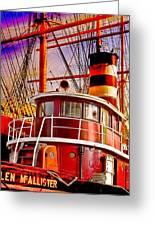 Tugboat Helen Mcallister Greeting Card