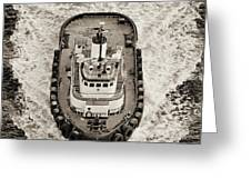 Tugboat In San Francisco Bay Greeting Card