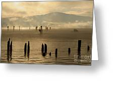 Tugboat In The Mist Greeting Card
