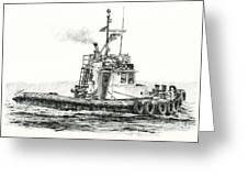 Tugboat Kelly Foss Greeting Card