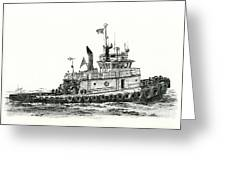 Tugboat Shelley Foss Greeting Card