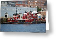 Tugs At Rest Greeting Card