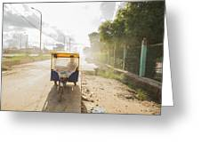 Tuk Tuk Taxi Greeting Card