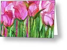 Tulip Bloomies 3 - Pink Greeting Card