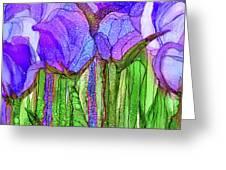 Tulip Bloomies 4 - Purple Greeting Card