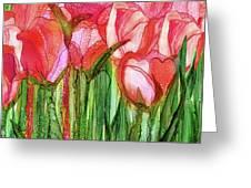 Tulip Bloomies 4 - Red Greeting Card