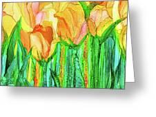 Tulip Bloomies 4 - Yellow Greeting Card