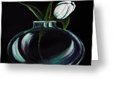 Tulip In A Vase Greeting Card