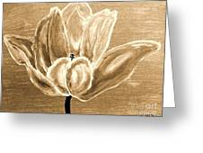 Tulip In Brown Tones Greeting Card by Marsha Heiken
