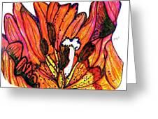 Tulip Macro Greeting Card